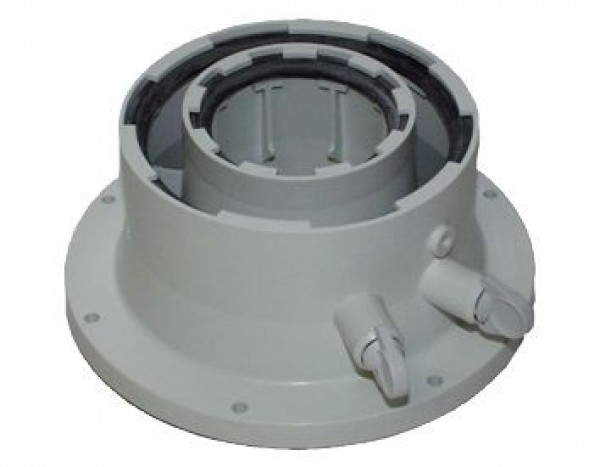 AZB1093 Adaptor centrala evacuare orizontala/verticala D=80/125mm la D=60/100mm