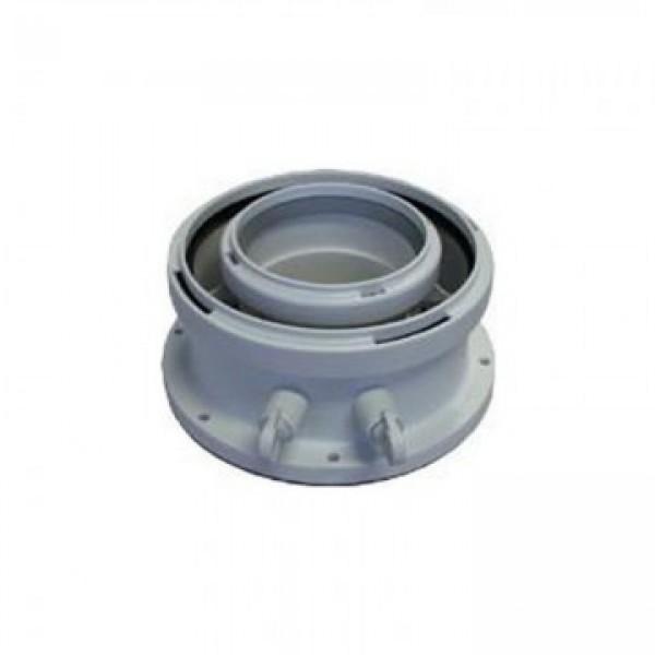 AZB931 - adaptor centrala evacuare orizontala/verticala(cu puncte de masurare) 80/125mm