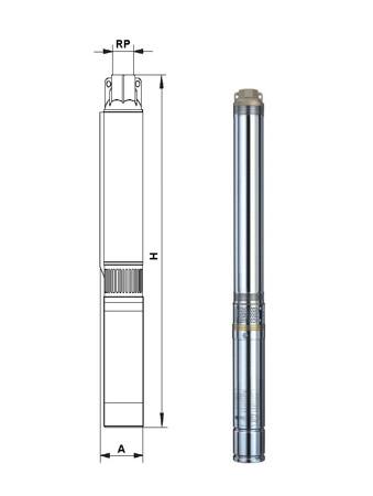 Pompe submersibile seria 4 SD