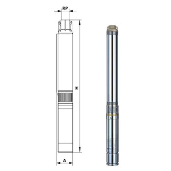Pompa submersibila 3,5 SC 3/16